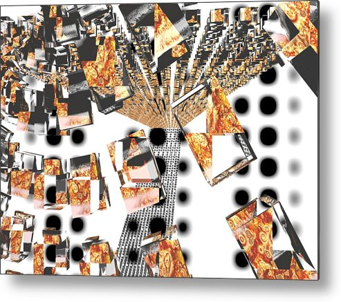 Abstraction Metal Print featuring the digital art You Re Drunk Hit The Floor by Milija Jakic
