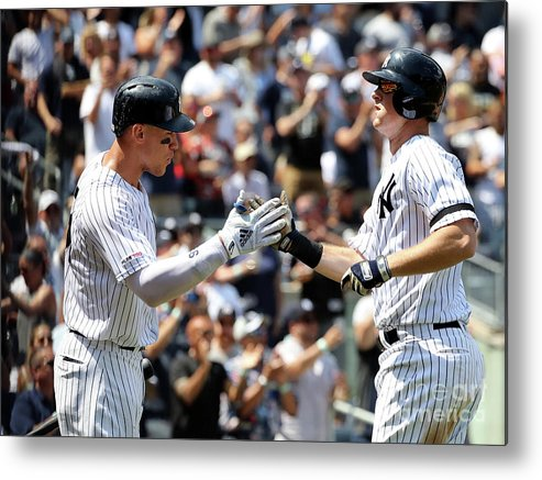 Three Quarter Length Metal Print featuring the photograph Boston Red Sox V New York Yankees - 2 by Elsa