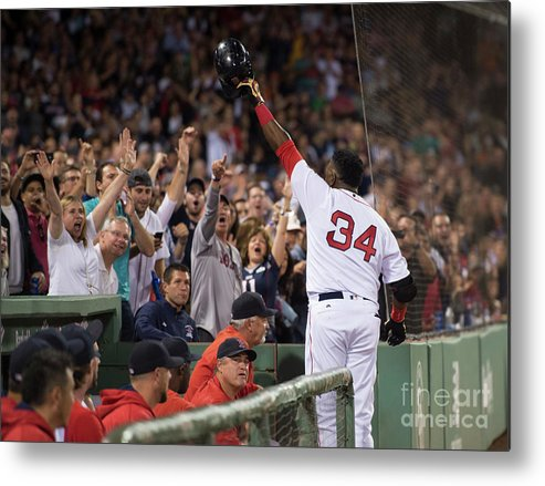 Crowd Metal Print featuring the photograph Baltimore Orioles V Boston Red Sox 8 by Michael Ivins/boston Red Sox