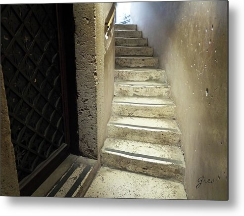 Stone Staircase Metal Print featuring the photograph Ascend by Royce A Owens