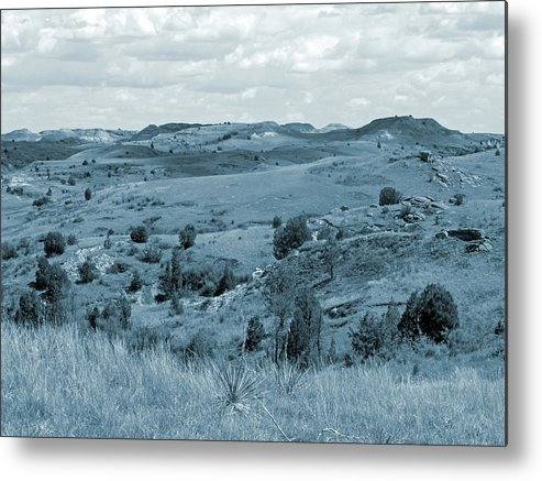 North Dakota Metal Print featuring the photograph Badlands Cloud Shadows by Cris Fulton