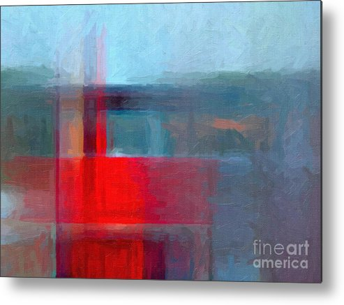 Parchment Metal Print featuring the digital art Digital Structure Of Painting. Oil by Happy Person
