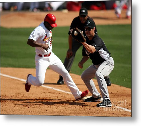 St. Louis Cardinals Metal Print featuring the photograph Florida Marlins V St. Louis Cardinals by Marc Serota
