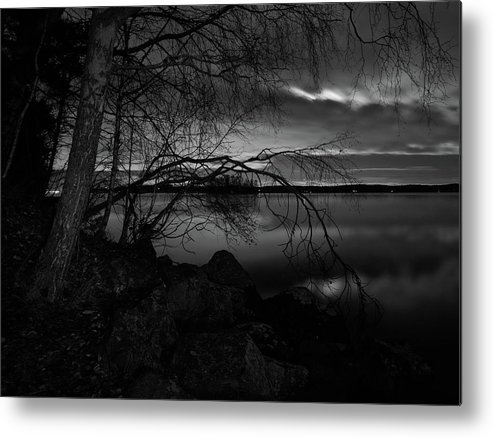 Finland Metal Print featuring the photograph Full Moon Behind The Clouds by Jouko Lehto