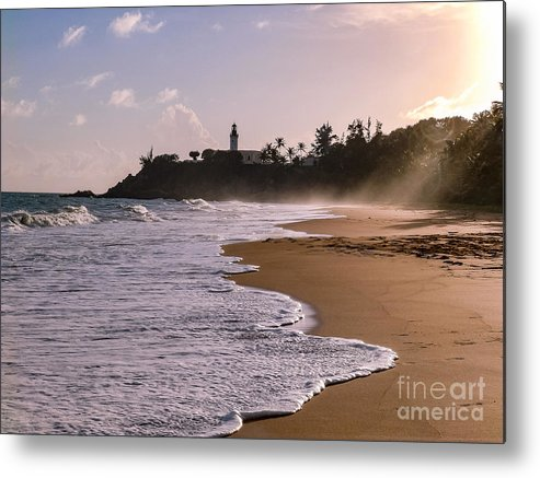 Ocean Metal Print featuring the photograph Tuna Punta Lighthouse And Beach In Puerto Rico by G Matthew Laughton