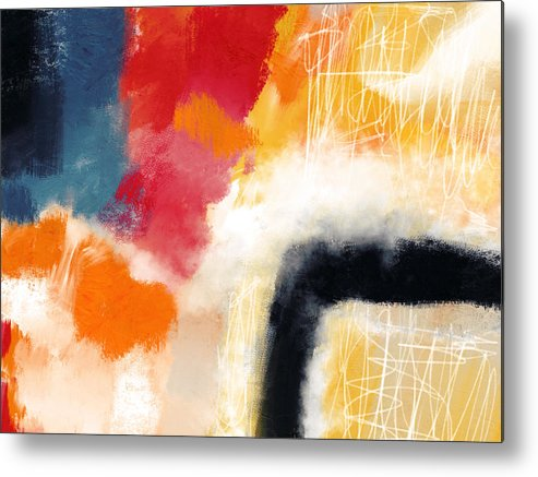 Abstract Metal Print featuring the mixed media Wonderland 4- Art By Linda Woods by Linda Woods