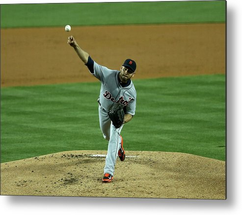 American League Baseball Metal Print featuring the photograph Anibal Sanchez by Stephen Dunn