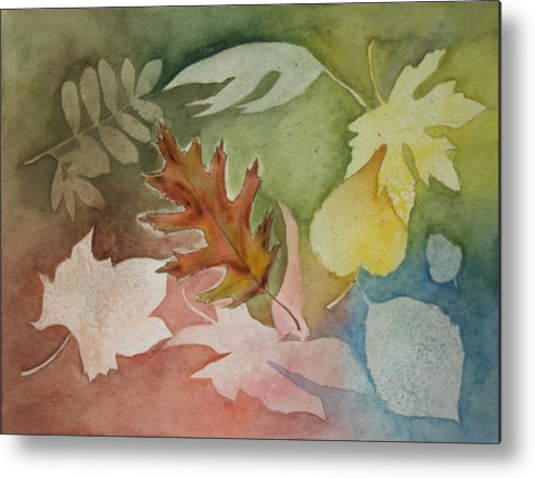 Leaves Metal Print featuring the painting Leaves Iv by Patricia Novack