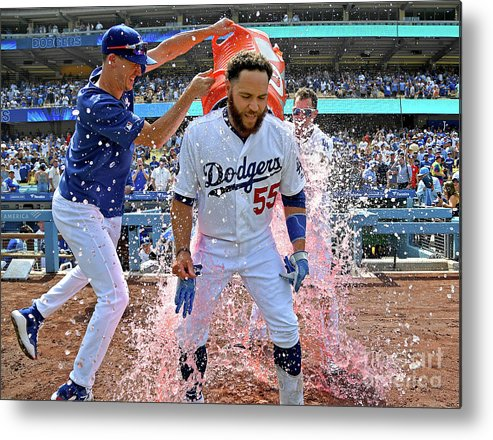 People Metal Print featuring the photograph Russell Martin, Walker Buehler, And Joc Pederson by Jayne Kamin-oncea