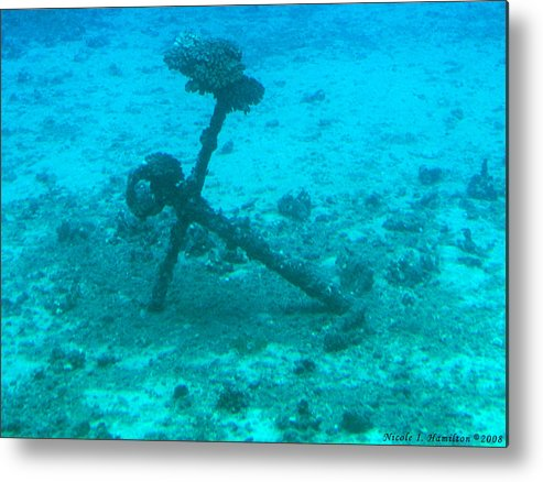 Sea Metal Print featuring the photograph Underwater Anchor by Nicole I Hamilton