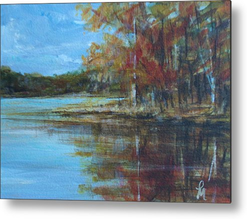 Lakescape Metal Print featuring the painting Better Days by Pete Maier
