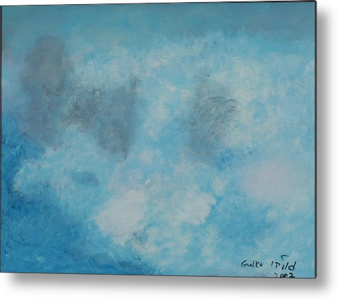 Clouds Metal Print featuring the painting Gathering Storm Clouds  by Harris Gulko