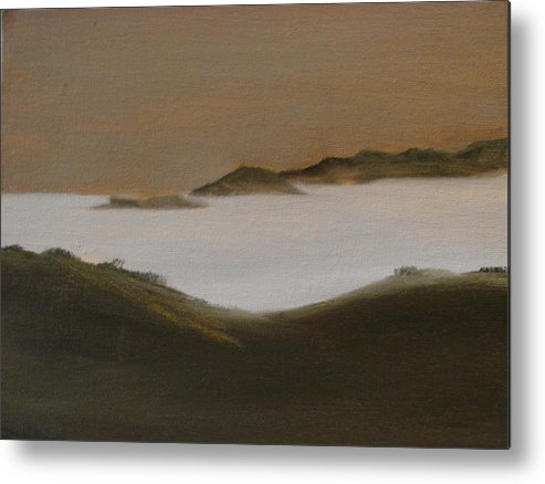 Landscape Metal Print featuring the painting Twilight Anacapa Island by Dottie Briggs