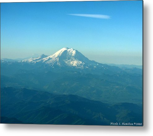 Mountain Metal Print featuring the photograph Distant Mountain by Nicole I Hamilton