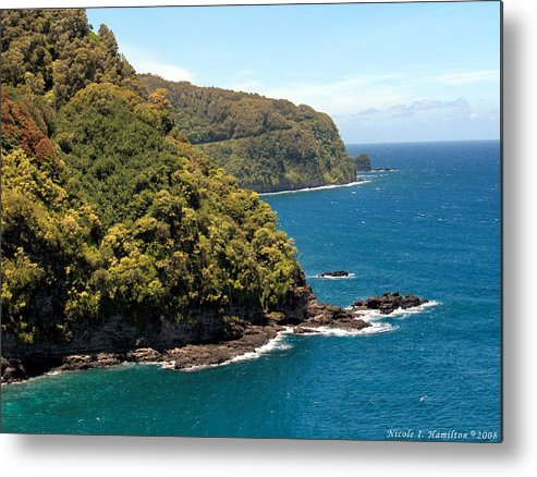 Landscape Metal Print featuring the photograph Mountains And Sea by Nicole I Hamilton