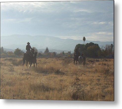 Western Metal Print featuring the photograph On The Range by Janey Loree