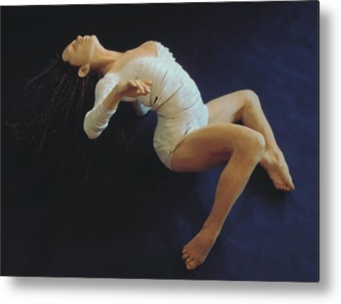 Dance Metal Print featuring the sculpture White Dancer Right View by Gordon Becker