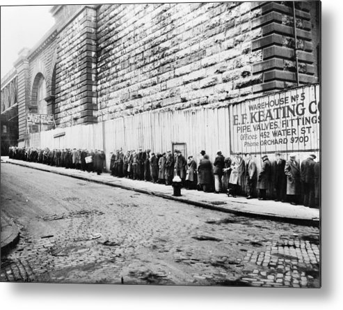 1930 Metal Print featuring the photograph New York City Bread Line by Granger