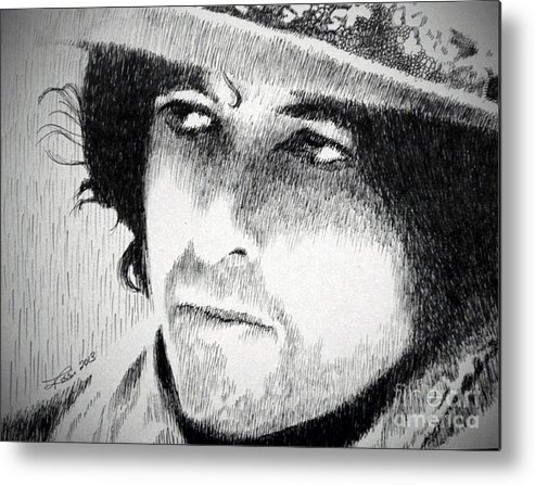 Pen Metal Print featuring the drawing Rolling Thunder by Robbi Musser