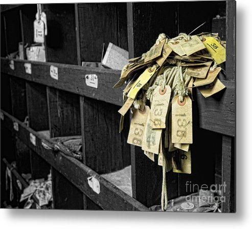 Selective Color Metal Print featuring the photograph 138 by Claudia Kuhn