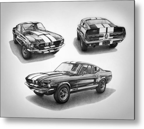 1967 Shelby Gt500 Mustang Metal Print