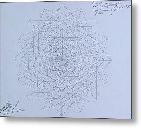 Jason Metal Print featuring the drawing Quantum Foam by Jason Padgett