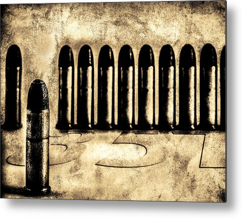 Bullets Metal Print featuring the photograph 357 by Bob Orsillo