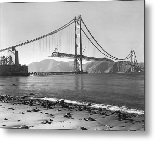 1937 Metal Print featuring the photograph Golden Gate Bridge by Underwood Archives