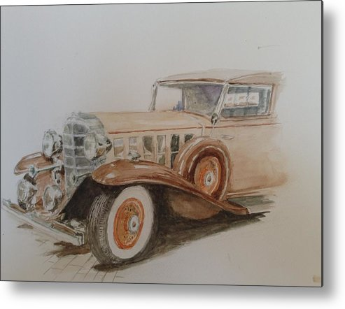 Old Car Metal Print featuring the painting A Caddy For You by Don Schroeder