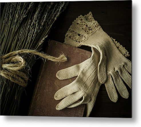 Glove Metal Print featuring the photograph A Woman's Touch by Amy Weiss