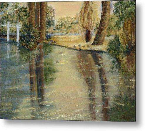 Arizona Metal Print featuring the painting Agua Caliente by Julia Graf