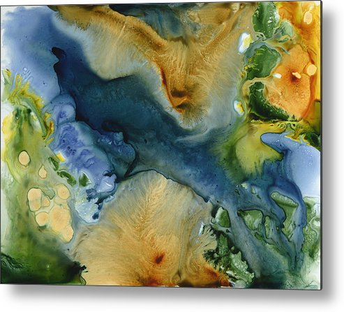 Landscape Metal Print featuring the painting All Things Must Change by Julia Graf