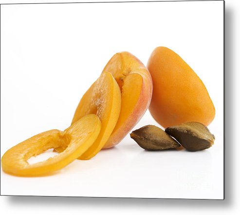 Food And Drink Metal Print featuring the photograph Apricots by Bernard Jaubert