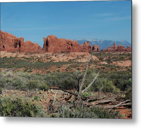 North Window Metal Print featuring the photograph Arches North Window Rock by Daniel Hebard