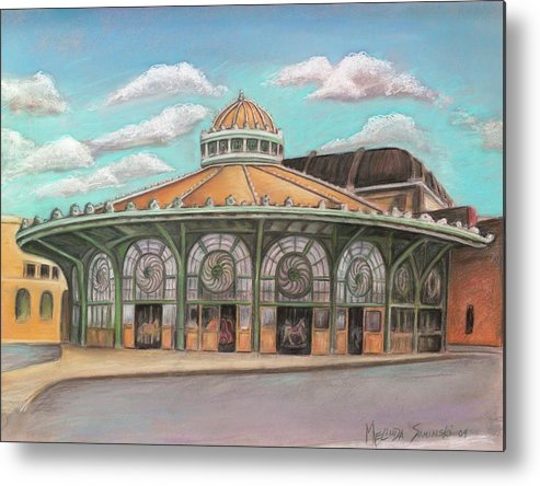 Carousel House Metal Print featuring the painting Asbury Park Carousel House by Melinda Saminski