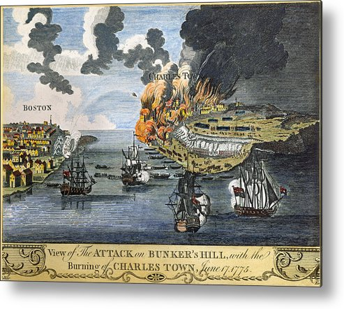 1775 Metal Print featuring the photograph Battle Of Bunker Hill, 1775 by Granger