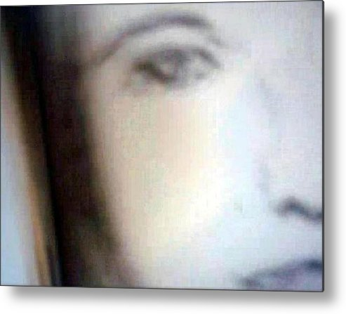 Portrait Metal Print featuring the mixed media Bianca by Jos Jackson