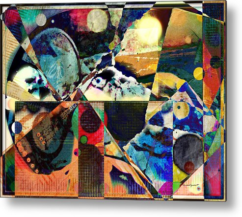 Birds Metal Print featuring the mixed media Birds And Music by YoMamaBird Rhonda