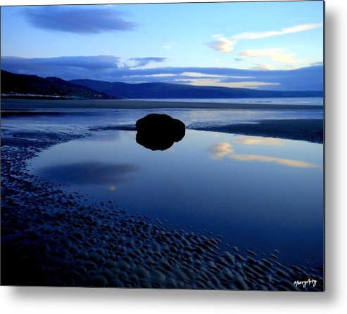 Landscape Metal Print featuring the photograph Black Rock by Russ Murry