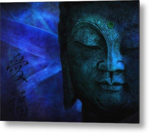 Buddha Metal Print featuring the photograph Blue Balance by Joachim G Pinkawa