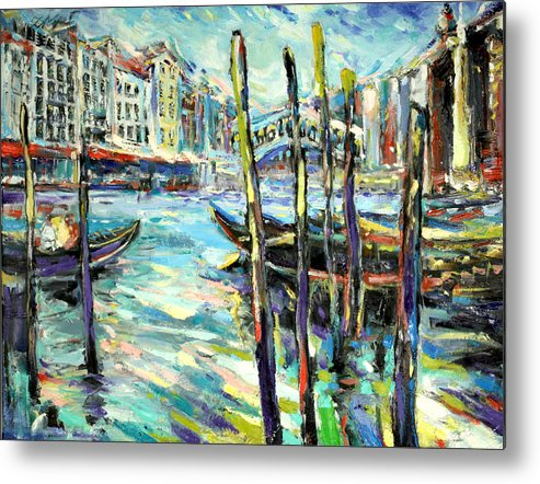 Venice Metal Print featuring the painting Canale Grande 1 by Zofia Kijak