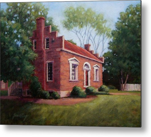 Carter House Metal Print featuring the painting Carter House In Franklin Tennessee by Janet King