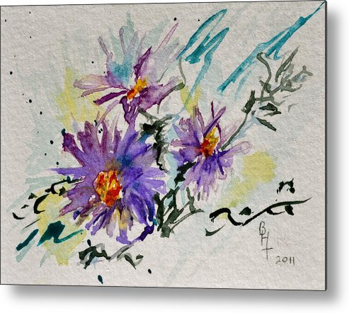 Aster Metal Print featuring the painting Colorado Asters by Beverley Harper Tinsley