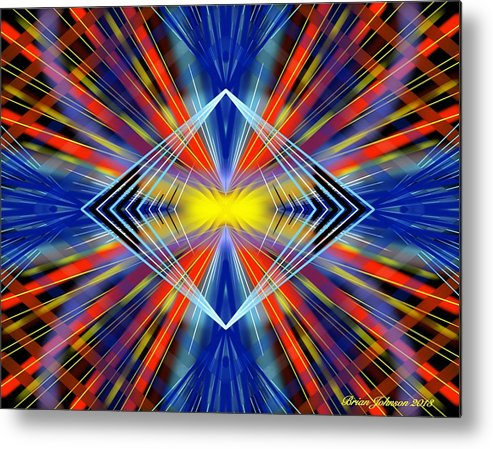 Abstract Metal Print featuring the digital art Crazy by Brian Johnson
