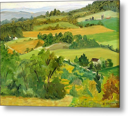View From Daisy Hollow Metal Print featuring the painting Daisy Hollow Dryden New York by Ethel Vrana