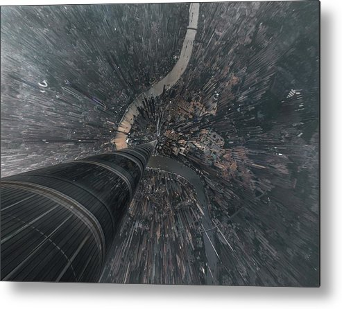 Shanghai Metal Print featuring the photograph Dive Into The Matrix by Stan Huang