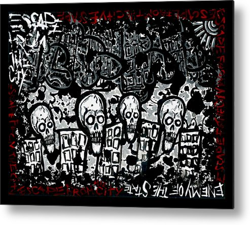 Josh Brown Metal Print featuring the painting Escape Prison City by Josh Brown