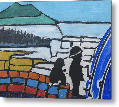 Fish Metal Print featuring the painting Fishing With Dad by Richard Dorling