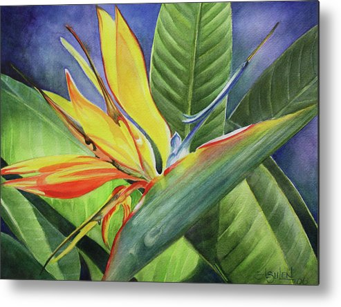 Bird Of Paradise Metal Print featuring the painting Free Bird by Lorraine Ulen