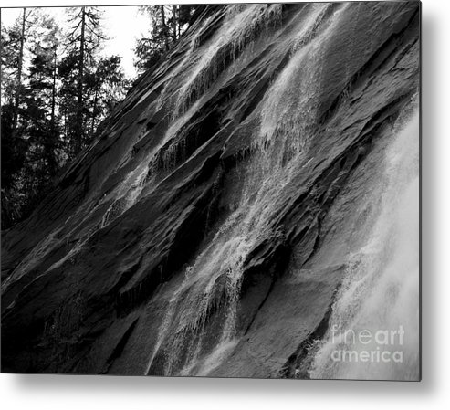 Waterfall Metal Print featuring the photograph Freeze The Water by Connor Hauenstein